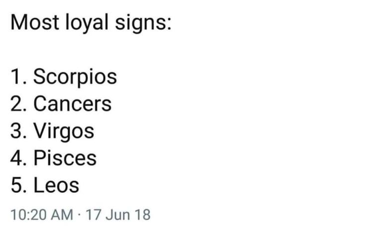 """I'm sick of Scorpios and Cancers claims to """"loyalty"""" and here's why"""